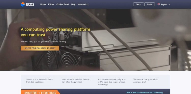 ECOS Mining Platform Review : Read Complete Details About ECOS